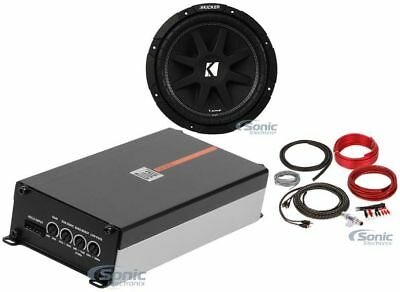 Kicker Comp C104 (43C104) + Mono Amp + Amp Kit
