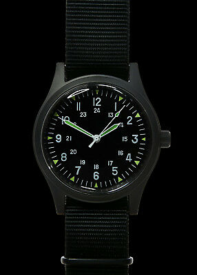 e446bbcc6 MWC LTD EDITION 24 Jewel Automatic Military Divers Watch with Black ...