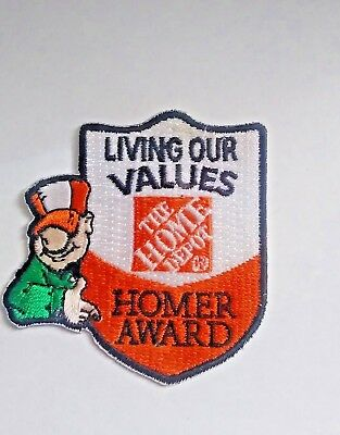 Home Depot LMH Patch Badge LIVING OUR VALUES HOMER AWARD