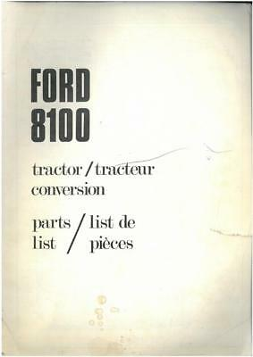 Ford Tractor 8100 Tractor Conversion Parts Manual