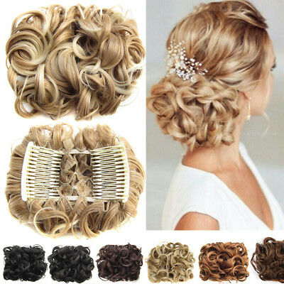 In Plastic Comb  Synthetic Hair  Chignon  Hair Bun Hair Ponytail Extensions