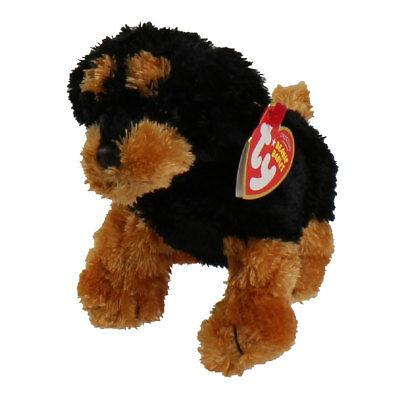 TY Beanie Baby - BRUTUS the Rottweiler Dog (Sitting version) (7 inch) - MWMTs