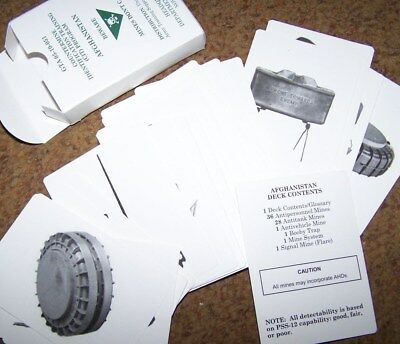 Flash Cards, Mine Recognition, Afghanistan, U.s. Issue *new*
