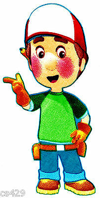 """8.5"""" Disney handy manny tools saw fabric applique iron on character"""