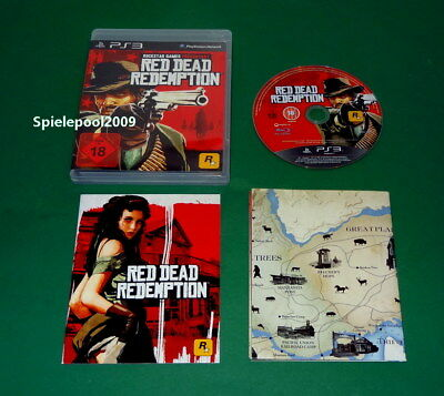 Red Dead Redemption mit Anl, OVP UND MAP - USK 18 fuer Sony Playstation 3 PS3