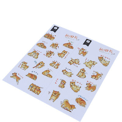 Kawaii Animals Dog Stickers DIY Scrapbooking Decorative Stickers Child Gift LD