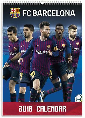 FC Barcelona Official 2019 Wall Calendar A3 New & Sealed Messi