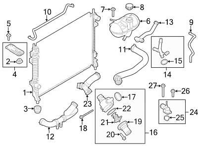 1990 jeep cherokee cooling system wiring diagrams instructions 98 Jeep Cherokee Radiator Diagram new genuine oem radiator coolant overflow container hose 2013 2015 jeep grand cherokee wiring diagram 1990 jeep cherokee cooling system