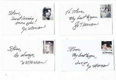 Jo Morrow Signed Authentic 3x5 Index Card The Three Worlds Of Gulliver