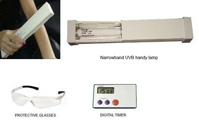 """Vitiligo lamp with bulb for spot of 1""""X3"""" cm Narrowband UVB 313nm phototherapy"""