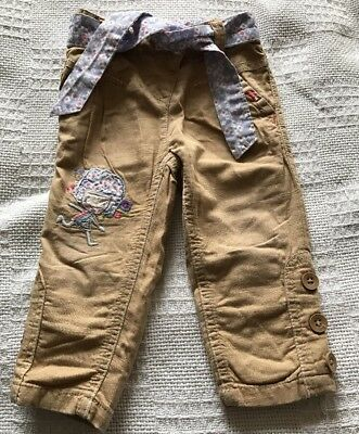 Next Baby Girls Lined Trousers. Age 9-12 Months