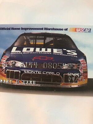 Lowe's NASCAR Credit Card Mint Never Used