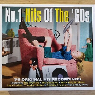 3CD NEW - No.1 HITS OF THE 60's - Pop Music 3x CD Album Shadows Crystals Orbison