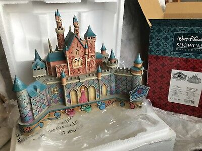 "Disney Showcase Jim Shore Traditions ""True Loves Castle"" Sleeping Beauty In box"