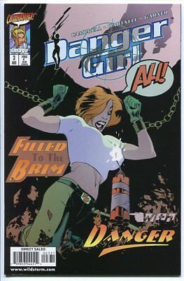 DANGER GIRL DANGEROUS CURVES #3 AUG 1998 SIGNED ARTIST ADAM HUGHES C.O.A.