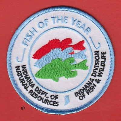 Indiana  Fish & Wildlife Division Shoulder Patch  Fish Of The Year