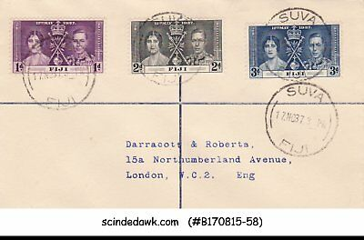 Fiji - 1937 Cover With Kgvi Coronation Stamps (Cancellation Date: 17.nov.37)