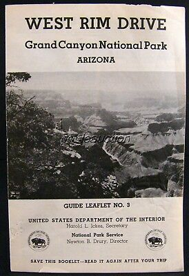 West Rim Drive Brochure 1945 Grand Canyon Guide No. 3