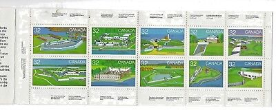 (1622)  STAMPS  CANADA #983 to 992 BOOKLET PANE # BK86 - THE FORTS
