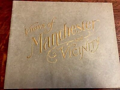 1900s VIEWS OF MANCHESTER & VICINITY LH Nelson Souvenir View Book Photos NH