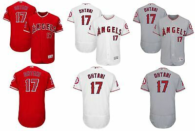 07e70f53522 Men s  17 Shohei Ohtani Los Angeles Angels of Anaheim Flex Base Jersey  Stitched