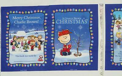 """Cotton fabric Soft Book Panel """"A Charlie Brown Christmas""""  CP50439"""