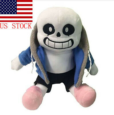 "Undertale Sans Plush Stuffed Doll Toy Hugger Cushion Cosplay Toy 9"" US Stock"