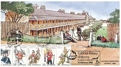 Australia special maxicard - 1 - 1985 -  Colonial Military Uniforms