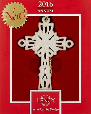 Lenox 2016 Snow Fantasies Cross Ornament