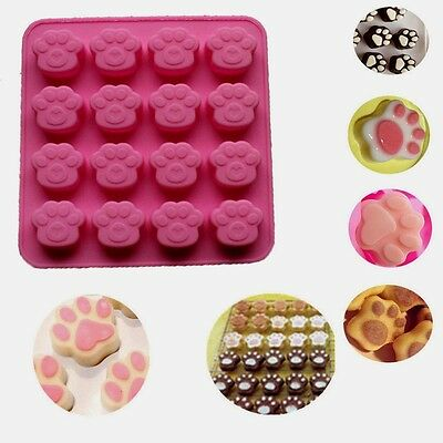aus seller..PAW PRINTS small (use for paw patrol)  CHOCOLATE/SOAP SILICONE MOULD