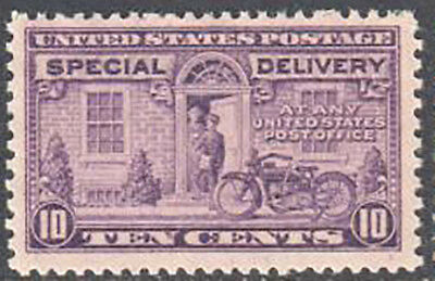SC#E15 - 10c Special Delivery, Motorcycle Delivery MNH