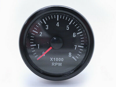 52mm 0-8000 RPM (On dash) Mechanical Tachometer Gauge for Petrol Motor Engine