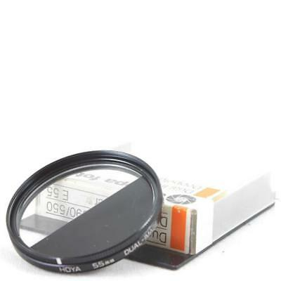 Hoya 55mm Dual-Image Grey/Clear Filtro Effect Trick Filter Cased XLNT