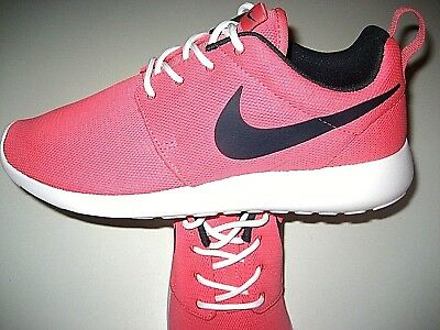 huge selection of 4f628 ea0ba Nike Womens Roshe One Training Running Shoes Sea Coral Pink White Size 6 NEW