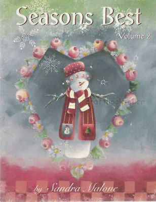 Seasons Best Vol 2 Sandra Malone Painting Book NEW Snowman