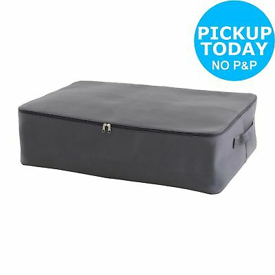 Habitat Jolie Canvas Polyester Underbed Storage Trunk- Grey.