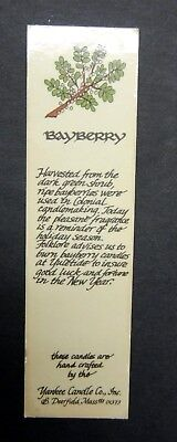 Rare Vintage Yankee Candle Bookmark Bayberry Deerfield MA