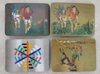 Very Rare Liberty Organization Vintage Solid Brass Lot Of 4 Belt Buckles Offer!!