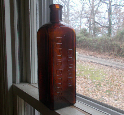 Columbo Peptic Bitters L.e.jung New Orleans 100 Yr Old Bottle Polished Lip?