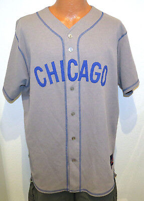 sports shoes f6759 403f6 VTG CHICAGO CUBS Throwback Jersey XL Cooperstown Collection Majestic 90s  Gray