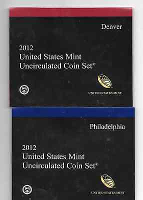 2012 Mint set 28  Uncirculated  P & D coins