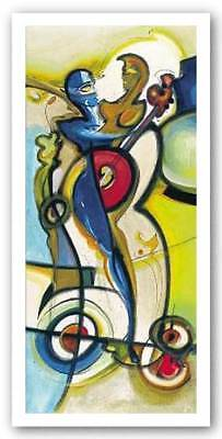 Two Guitars are Better Alfred Gockel Abstract Art Print 20x39