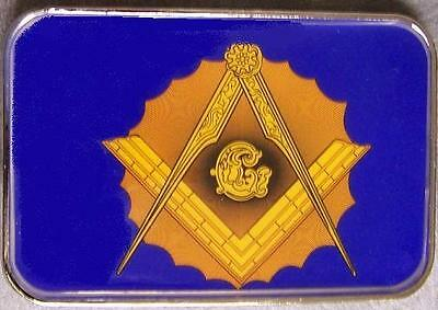 Pewter Belt Buckle Fraternal Freemasonry Mason Masonic Free Masons NEW