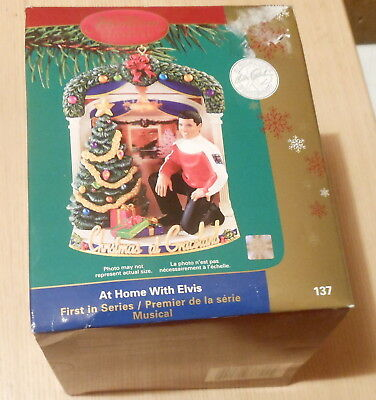 Elvis Presley At Home with Elvis Christmas Ornament (2005) Carlton Musical New