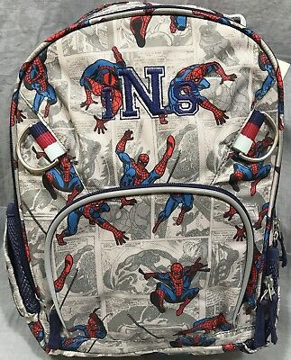 "d823e40c1644 Pottery Barn Kids Allover Spider-Man Small Backpack ""INS"" Monogram"