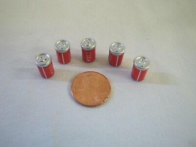 Dollhouse Miniature 5 CANS of SODA POP COCA COLA SOFT DRINK CAN Mini Food