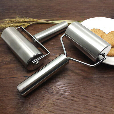 Stainless Steel Baking Roller Cooking Pasta Rolling Pin Dough Tool