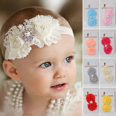 Baby & Kids Girl Toddler Lace Flower Headband Hair Bow Band Accessories Headwear