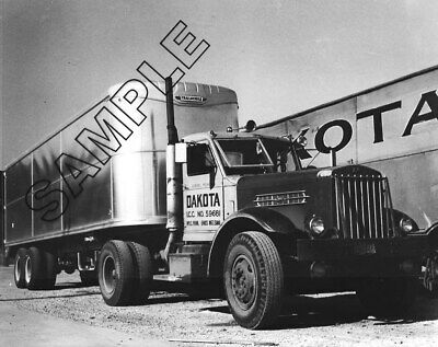 1945 STERLING w/TRAILMOBILE Trailer DAKOTA TRANSFER, Minneapolis 8x10 Photo #1
