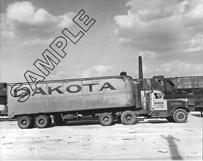 1940s STERLING w/JO-DOG & Tandem Trailer DAKOTA TRANSFER, Minneapolis 8x10 Photo